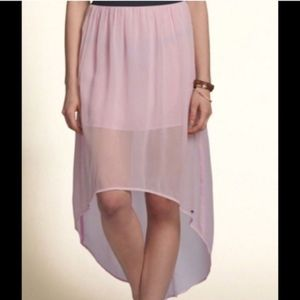 Hollister Sheer High Low Maxi Skirt Faria